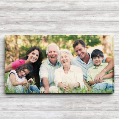 24x12 family photo wood print