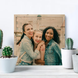 12x12 Friends square photo printed on wood