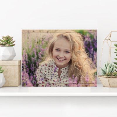 14x10 Girl head shot photo printed on wood Popular gift