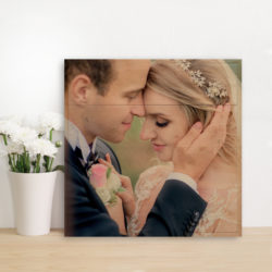 20x20 Wedding photo print on wood