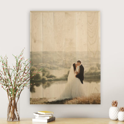 24x36 wedding photo printed on shimlee large photos wood print
