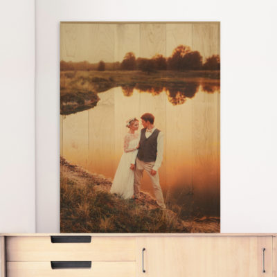 30x40 Wedding large photo wood print
