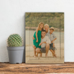 5x7 Famiy print your photos on wood