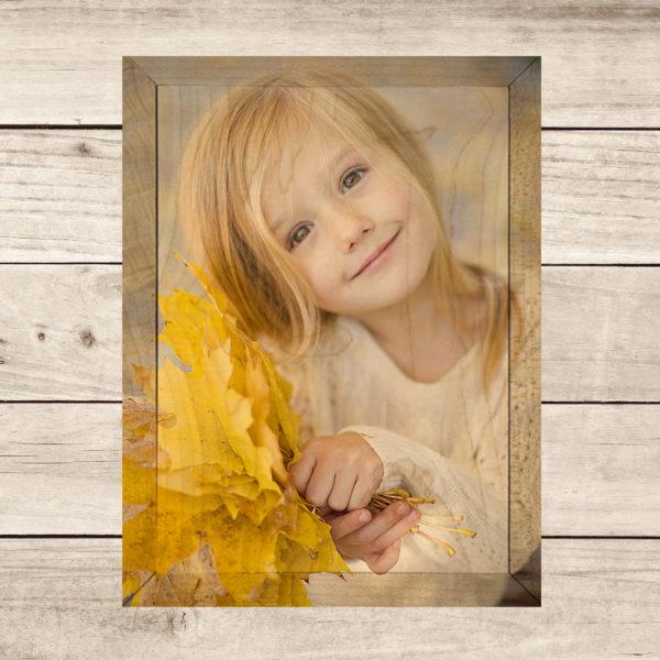 5x7 little girl print your photos on wood