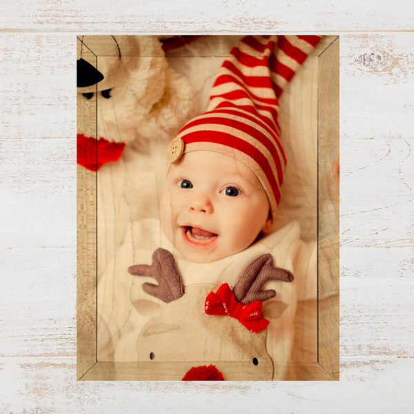 5x7 baby print your photos on wood