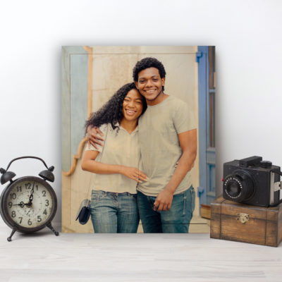 8x10 Couple Photo Wood Print