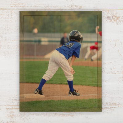 8x10 Youth Sports Photo Wood Print