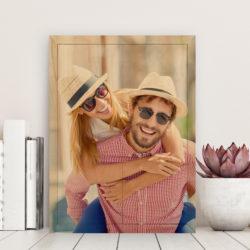 10x14 Happy Couple photo on wood