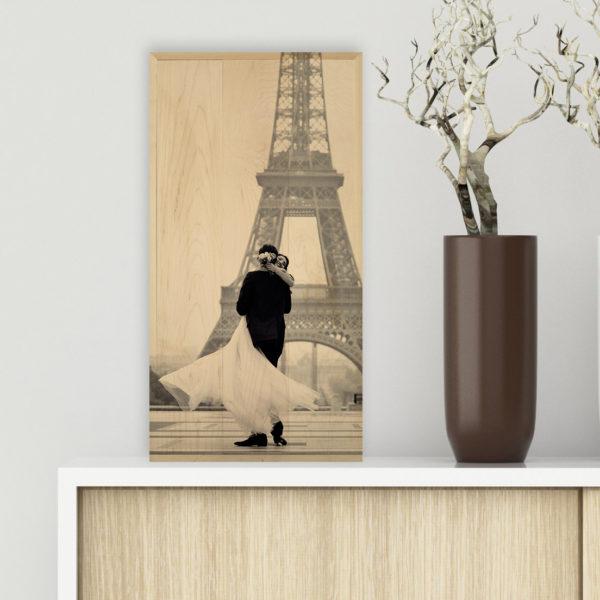 12x24 wedding in Paris photo wood print