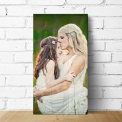 12x24 mother daughter photo wood print