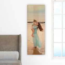 12x36 Mother and child photo wood print