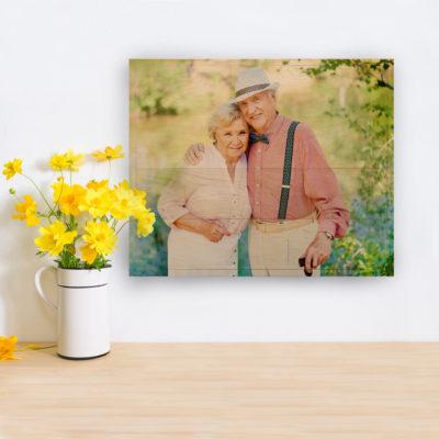 20x16 Older Couple on 20x16 Photo Wood Print