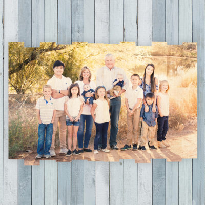 36x24 family photo on staggered photo print unique gifts
