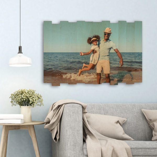 36x24 family vacation photo on staggered photo print unique gifts