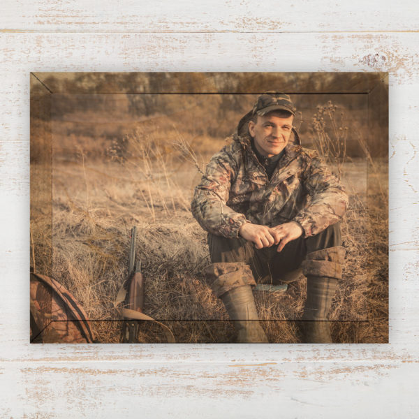 7x5 hunter wood photo print