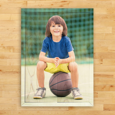 10x14 boy and basketball photo print