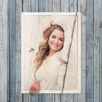 10x14 graduation photo wood print