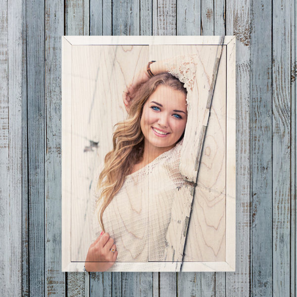 10x14 graduation photo wood print