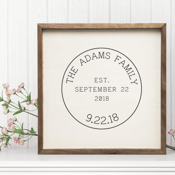 16x16 Adams Mock Custom Name sign