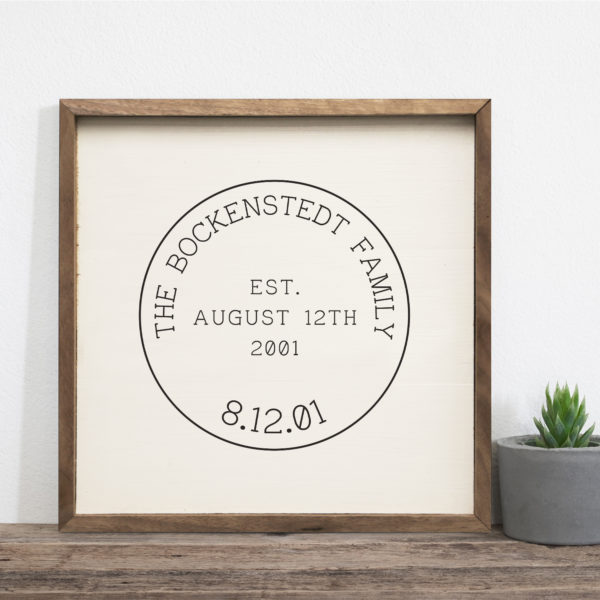 16x16 Bockenstedt Mock Custom name sign