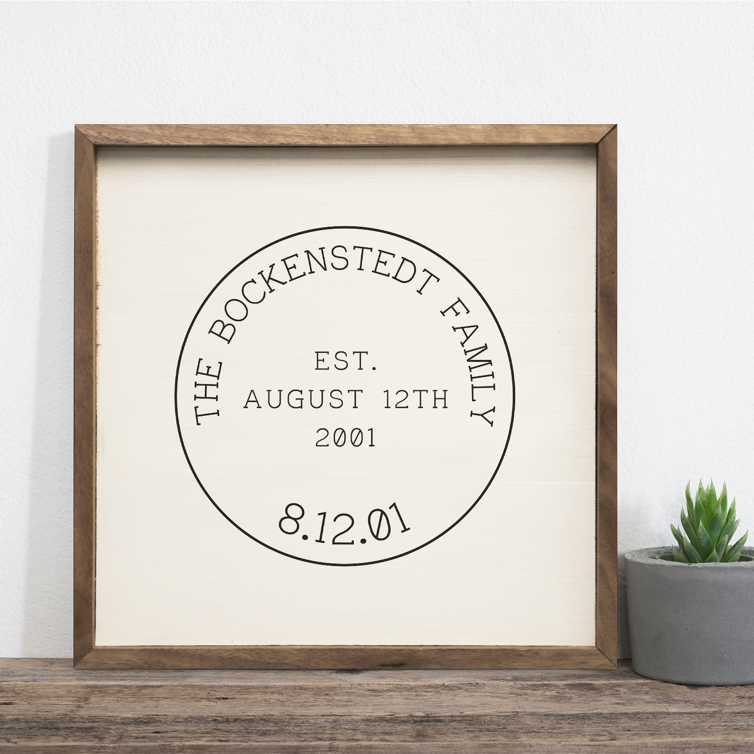 Personalized Stamp Wood Print