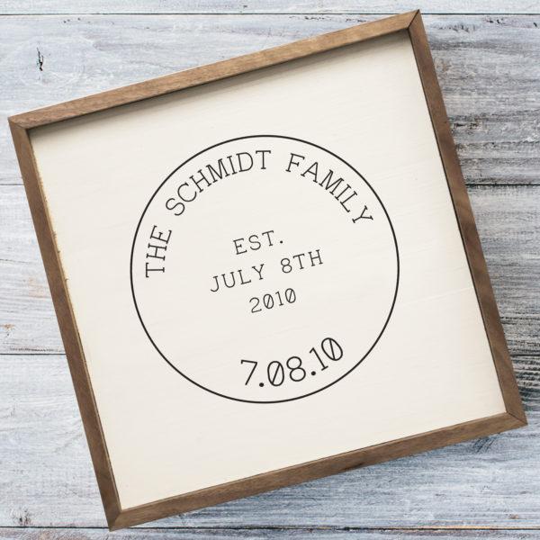 16x16 Schmidt Mock Custom Name sign