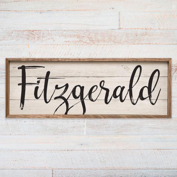distressed last name wood sign