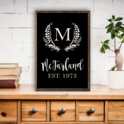 12x18 and 24x36 personalization Vintage Custom Wood Print