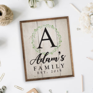 8x10 or 16x20 Custom Whimsical Wood Print Personalized wood Sign