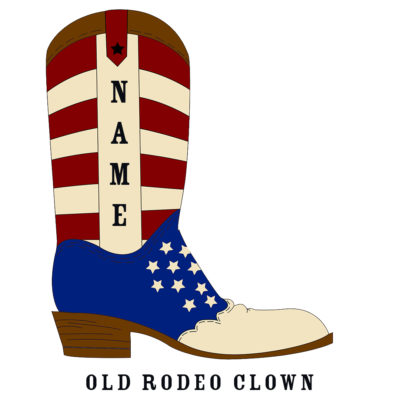 Custom Rodeo Boot Old Rodeo Clown Boot - SHBOOT-5