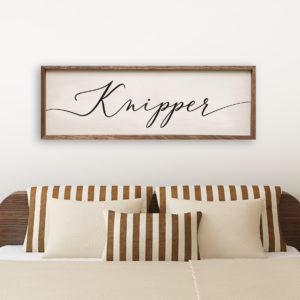 Simple Modern custom wood sign