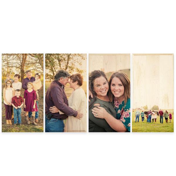 12x24 Photo Wood Print Bundle - Family