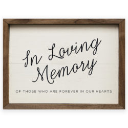 14x10 In Loving Memory Wood Print