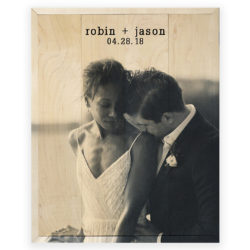 16x20 Custom Wedding Photo Print - robin and jason