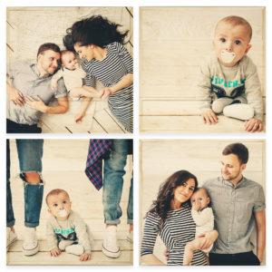 20x20 Photo Wood Print Bundle - baby