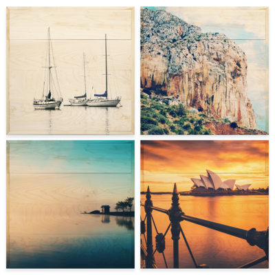 20x20 Photo Wood Print Bundle - vacation