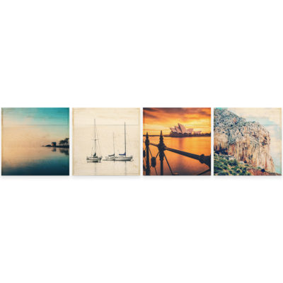 20x20 Photo Wood Print Bundle - vacation horizontal