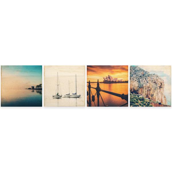 20x20 Photo Wood Print Bundle - vacation horizontal
