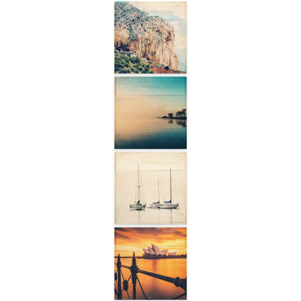 20x20 Photo Wood Print Bundle - vacation vertical
