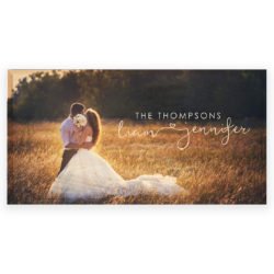 24x12 Custom Wedding Photo Print - The Thompsons