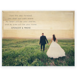 24x18 Custom Wedding Photo Print - Spencer and Marie