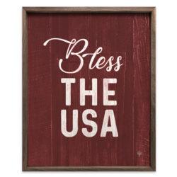 Bless the USA Wood Sign 8x10 and 16x20
