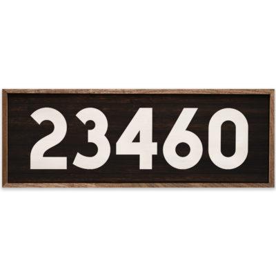 Custom Block Number Zip Code 24x8
