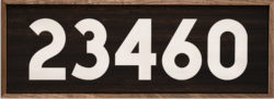 Custom Block Number Zip Code 24x8