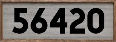Block Number Zip Code White 24x8
