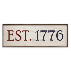 Est 1776 Wood Sign 24x8 and 36x12