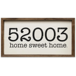 Home Sweet Home Zip Code White 16x8