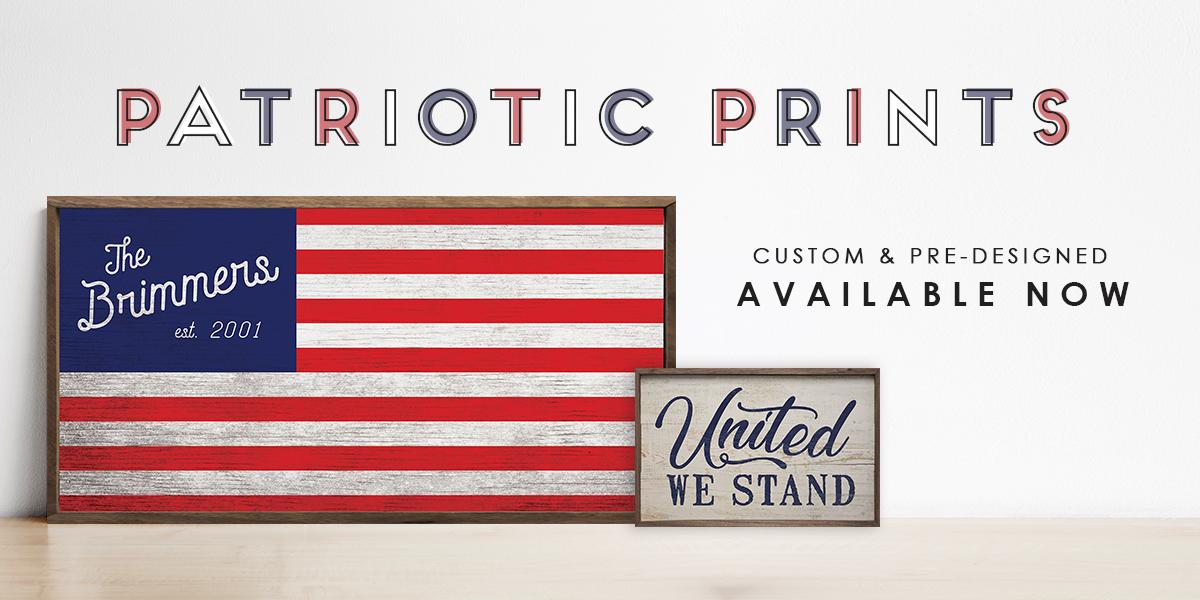 Patriotic Prints Banner