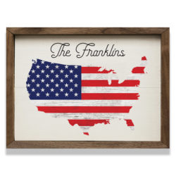 Personalized USA Map 14x10 Franklins
