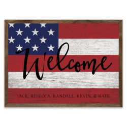 Personalized Welcome Flag 14x10 Jack